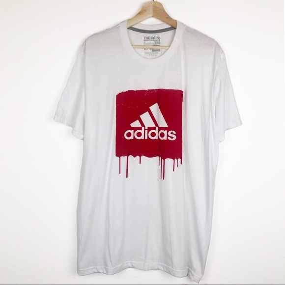 ADIDAS Badge of Sport Drip Logo Graphic Tee XL